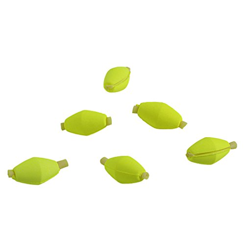Drift Boat Fishing Fly - Andux 6pcs/Set Fly Fishing Foam Float Drift Float Indicators Streams Drift Positioning Floats FDFP-03 (Yellow)