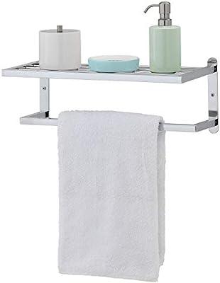 Modern Chrome Plated Wall Mounted Bathroom Storage Shelf Towel Rack Bar Mygift Buy Online At Best Price In Uae Amazon Ae