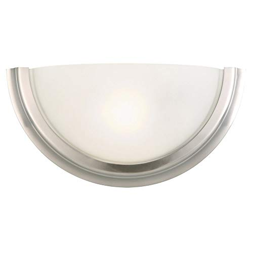 Design House 514562 Fairfax 1 Light Wall Light, Satin Nickel