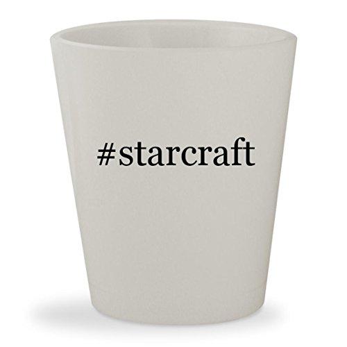 #starcraft - White Hashtag Ceramic 1.5oz Shot (Battlecruiser Snap)