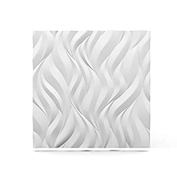 Image of Home Improvements A la Maison Ceilings FM-SWP-PW Flames Wall Panel, White