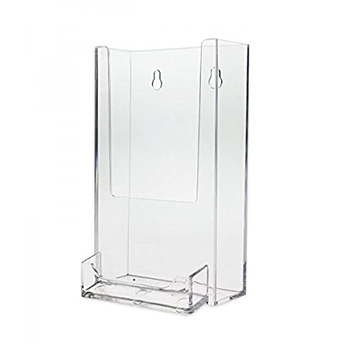 Source one tall boy 4 inch wide wall mount brochure holder with source one tall boy 4 inch wide wall mount brochure holder with business card holder reheart Choice Image