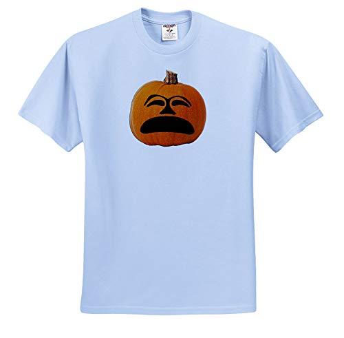 Sandy Mertens Halloween Food Designs - Jack o Lantern Unhappy Sad Face Halloween Pumpkin, 3drsmm - T-Shirts - Light Blue Infant Lap-Shoulder Tee (18M) (ts_290216_75) -