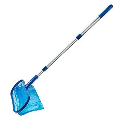 RANRANHONME Heavy Duty Pool Net Deep Bag,Pool Skimmer Leaf Cleaning Pool Rake Blue