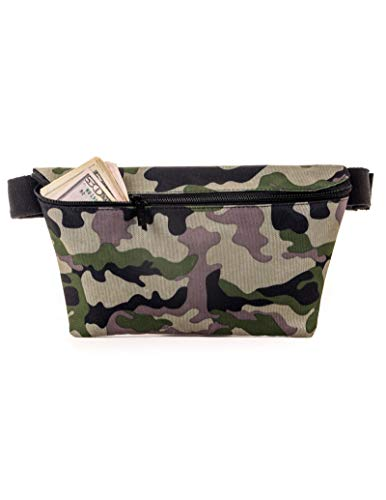 FYDELITY- XL Plus Size Ultra-Slim Fanny Pack w/Extra Long Waist Belt Bag | CAMOUFLAGE ARMY Streetwear, Urban, Street,Hiphop,BAPE For Men/Accessories/Small Waist Pouch/Hip Sack/Bumbag/Belly/Slingbag