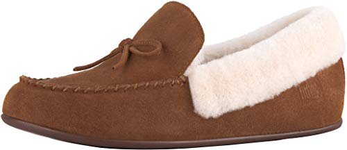 Fitflop Clara Tan Shearling Pantofole tumbled 645 Moccasin Donna Brown rrPqwUBx