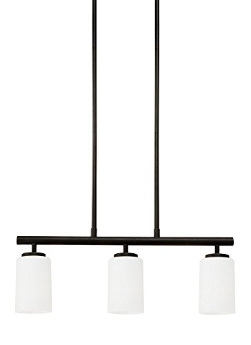 (Sea Gull Lighting 66160EN3-839 Three Light Island Pendant, Blacksmith)