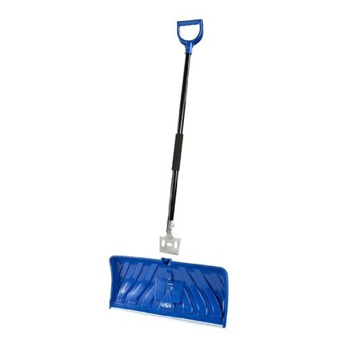 Snow Joe Edge SJEG24 2-In-1 24-Inch Poly Blade Snow Pusher and Ice Chopper, Blue (24 Snow)