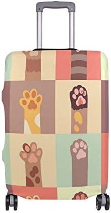 (ソレソレ)スーツケースカバー 防水 伸縮素材 キャリーカバー ラゲッジカバー 猫柄 猫爪 かわいい 可愛い アニマル カラフル 可愛い おしゃれ 防塵 旅行 出張 便利 S M L XLサイズ