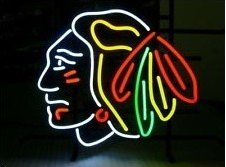 NHL Stanley Cup Chicago Blackhawks Hockey Handcrafted Real Glass Neon Light Sign Home Beer Bar Pub Sign 19x15 inches.The Best Offer!Super - Nhl Pub Sign