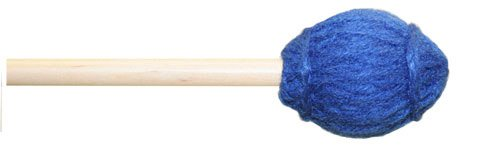 Mike Balter 13R Ensemble Series Medium Marimba Mallets with Rattan Handles, Blue (Medium Keyboard Mallets Series)