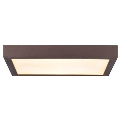 Access Lighting Ulko Exterior 9'' Square LED Flush Mount - Bronze Finish with White Acrylic Lens
