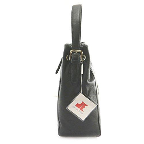 Jacques ESTEREL [M8561] - Sac cuir 'Jacques Esterel' noir