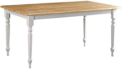 Boraam Farmhouse Table, White Natural