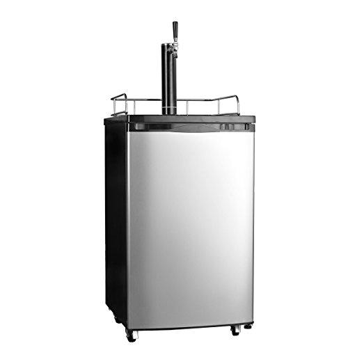 SMETA Freestanding Draft Beer Dispenser with Beer tower Beer keg cooler refrigerator 4.9 cu ft,Stainless steel by SMETA