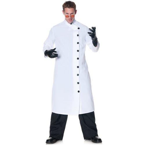 Mad Scientist Halloween Costumes (Underwraps Men's Plus-Size It's Alive, White/Black, XX-Large)