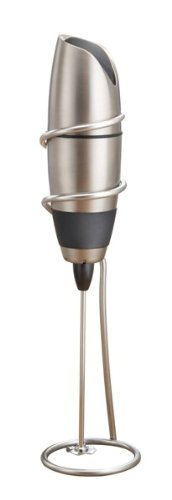 BonJour Coffee Battery Operated Frother in Stainless Steel