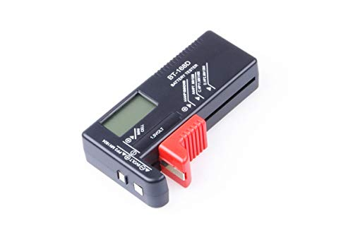 Small Battery Tester - Universal Digital Battery Volt Checker Holder Tool for AA AAA C D 9V 1.5V Button Cell Small Batteries BT-168D