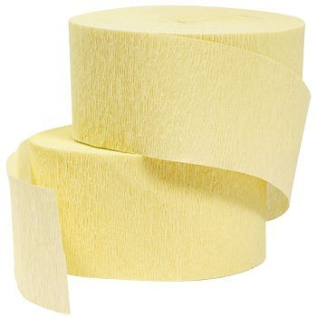4 ROLLS, LIGHT YELLOW / CANARY Crepe Paper Streamers 290 ft Total - Made in USA! by Greenbrier