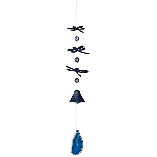 (Woodstock Chimes CDWBL Habitats Dragonfly Wind Bell, Blue Agate)