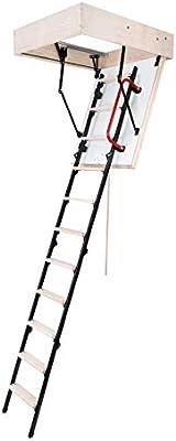 Escalera de suelo MINI Plus, escalera de almacenamiento, 100 x 60, escalera de metal, pasamanos W/M2*K - 0,85: Amazon.es: Bricolaje y herramientas
