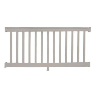 Weatherables Vanderbilt 36 in. x 6 ft. Vinyl Tan Straight Railing