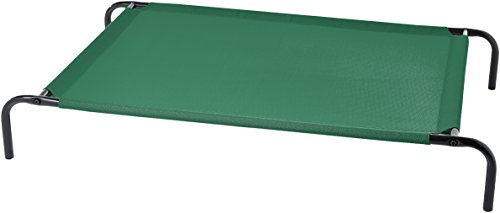 Coolaroo Elevated Pet Bed - AmazonBasics Large Elevated Cooling Pet Dog Cot Bed - 51 x 31 x 8 Inches, Green