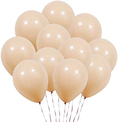 KUMEED 100 Pcs Champagne Balloons Latex Balloons for Wedding Bridal Baby Shower Birthday Party Decorations