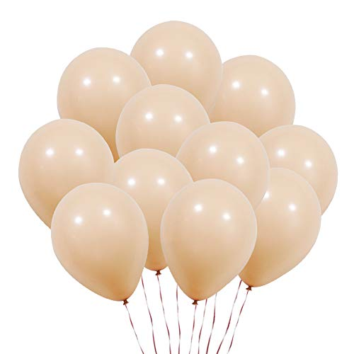 KUMEED Champagne Balloons Latex Balloons Globos Party Birthday Wedding Balloons Pack of 100