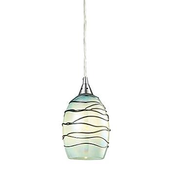 Elk Lighting 31348 1MN Vines Collection 1 Light Pendant, Satin Nickel