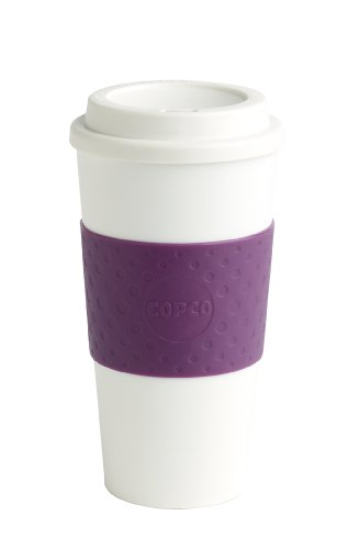 Copco Acadia Travel Mug, 16-Ounce, Plum (Lid Plastic Travel)