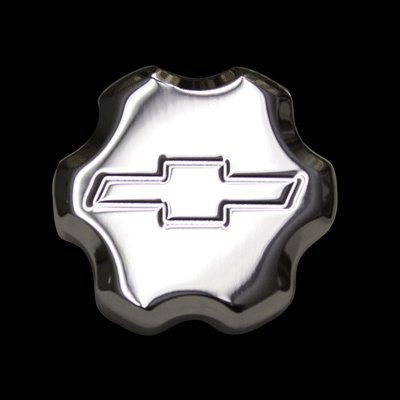 2010-2014 Camaro Polished Billet Power Steering Cap Cover Bowtie Logo Polished