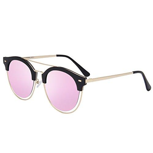 Jardin D'amour Round Vintage Mirror Lenses UV Protection Polarized Unisex Sunglasses JA6060 - Ran Ban