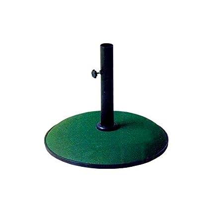 Base Per Ombrellone Fai Da Te.Base In Cemento Per Ombrellone Kroma Tonda Colore Verde 25 Kg