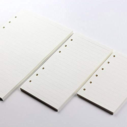 Ricambi di fogli sfusi a 6 fori di ricambio per quaderni di carta a fogli vuoti allinterno del quaderno per appunti Core A5 A7 linea orizzontale A6