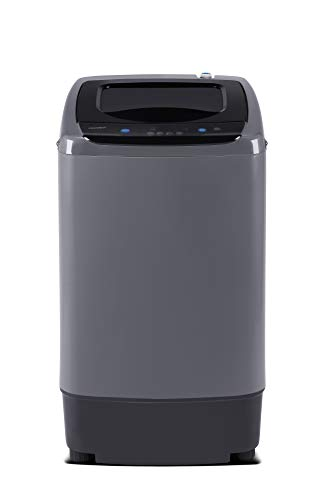 COMFEE' Portable Washing Machine, 0.9 cu.ft Compact Washer With LED Display, 5 Wash Cycles, 2 Built-in Rollers, Space…