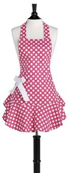 Jessie Steele Pink and White Polka Dot Josephine Apron