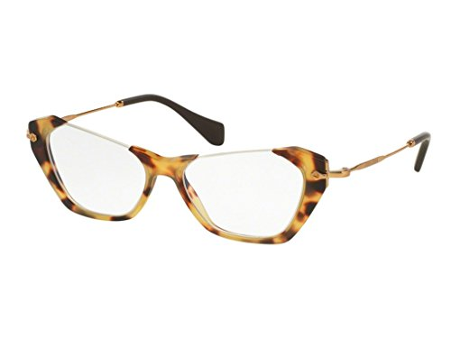 Miu Miu Eyeglasses VMU 04O Eyeglasses HAN-1O1 Sand Yellow Havana - Miu Miu Men