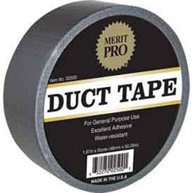 Global Industrial Merit Pro General Purpose Water Resistant Duct Tape, 165' Length x 2