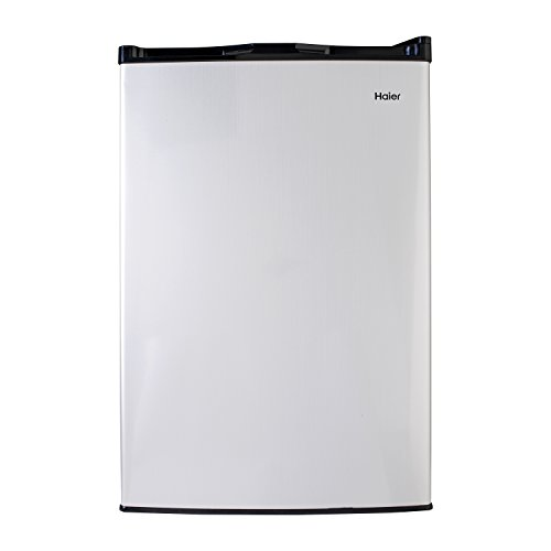 Haier HC46SF10SV Compact Refrigerator, Small, Stainless Steel by Haier