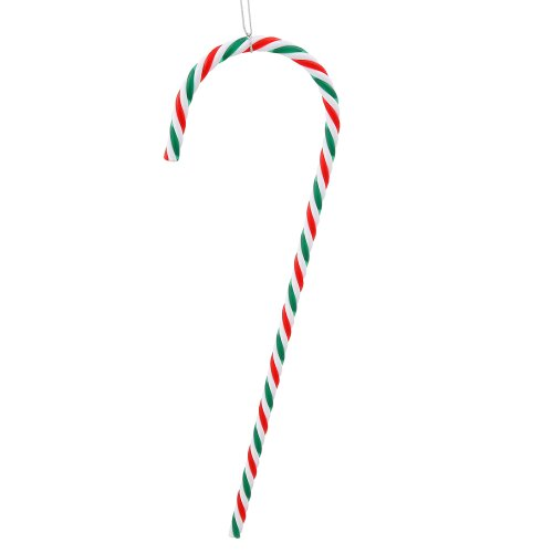 Pack of 2 Red, Green and White Striped Candy Cane Christmas Ornaments 18
