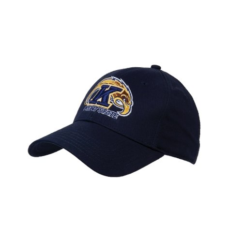 Kent State Navy Heavyweight Twill Pro Style Hat 'Kent State Flash w/K and Flash'