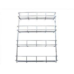 4 Tier Spice Rack Door Mounted Kitchen Cupboard Storage System