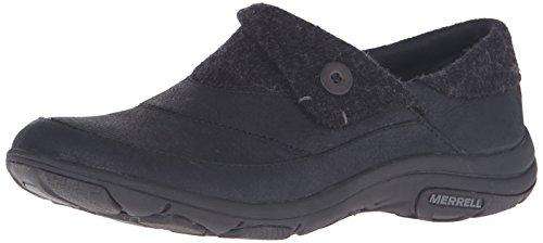 Schuhe Slip On Damen Fold Dassie Moc Schwarz Merrell aw8RY