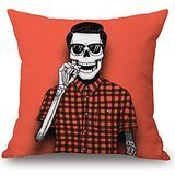 [Uloveme Throw Pillow Case Of Skull,for Him,saloon,teens Girls,home Theater,bench,shop 16 X 16 Inches / 40 By 40 Cm(both] (Leo Johnson Costume)