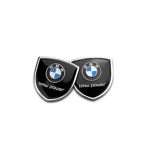 Zhmyyxgs 2 Pcs Shield Refit Logo Auto Car Rear Side Fender Stickers Metal Decorative Logo Emblems Badge Logo Accessories for BMW