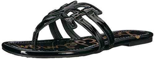 Sam Edelman Women's Cara Sandal, Black Patent, 8.5 M US