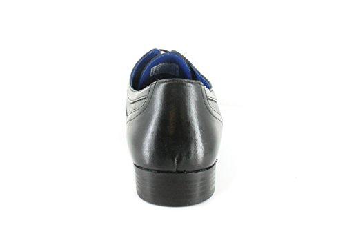 Red Tape - Zapatos de cordones de Piel para hombre negro negro, color negro, talla 41.5