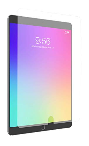 """ZAGG InvisibleShield Glass+ VisionGuard - Blocks Harmful high-Energy Visible (HEV) Blue Light and 99% of UV Light from Your Device - Made for Apple iPad 9.7"""""""