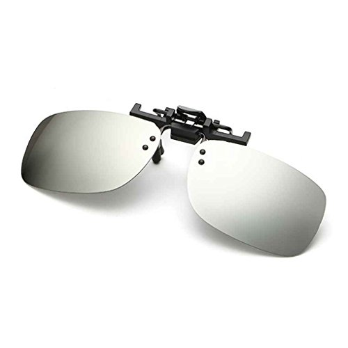 on 4 en Soleil Up de de Polarized métal Clip Aiming 5 Lunettes Square Fashion Flip Clip Hommes 4xwqxROaX